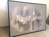 50 Shades of Grey RRP £680 by lisa vallo art, Painting, Mixed Media on Canvas