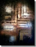 Black Fire by lisa vallo art, Painting, Mixed Media on Canvas