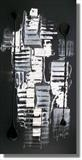 Black Night by lisa vallo, Painting, Mixed Media on Canvas