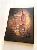 Bronze RRP £120 by lisa vallo art, Painting, Mixed Media on Canvas