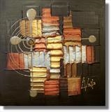 Bronzed by lisa vallo, Painting, Mixed Media on Canvas