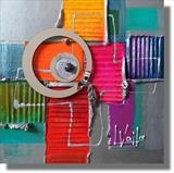 Colour Crazy WAS £100 by lisa vallo art, Painting, Mixed Media on Canvas