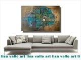 Deep Blue Sea SOLD by lisa vallo, Painting, Mixed Media on Canvas