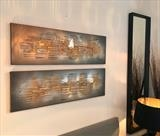 Double Metallic RRP £599 by lisa vallo art, Painting, Mixed Media on Canvas