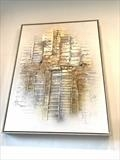 Golden Silver by lisa vallo art, Painting, Mixed Media on Canvas