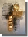 Golden Touch RRP £150 by lisa vallo art, Painting, Mixed Media on Canvas