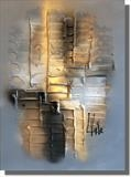Grey Amber by lisa vallo art, Painting, Mixed Media on Canvas