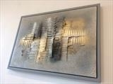 Grey Stone RRP £399 by lisa vallo art, Painting, Mixed Media on Canvas