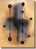 Industrial Amber by lisa vallo, Painting, Mixed Media on Canvas