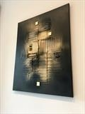 Industrial Black by lisa vallo art, Painting, Mixed Media on Canvas