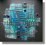 Jewel of the Sea by lisa vallo, Painting, Mixed Media on Canvas