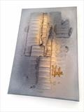 Light Beam RRP £120 by lisa vallo art, Painting, Mixed Media on Canvas