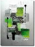 Lime Sparkle  SOLD by lisa vallo art, Painting, Mixed Media on Canvas