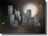 Manhattan Moonshine by lisa vallo, Painting, Mixed Media on Canvas
