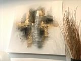 Metallic Explosion by lisa vallo art, Painting, Mixed Media on Canvas