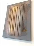Metallic Lines RRP £130 by lisa vallo art, Painting, Mixed Media on Canvas