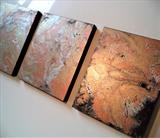 Metallic Marble 2 by lisa vallo art, Painting, Acrylic on canvas