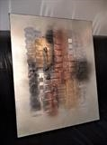 Metallic Mood by lisa vallo art, Painting, Mixed Media on Canvas