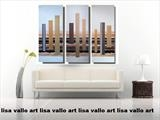 Metallic Towers by lisa vallo art, Painting, Acrylic on canvas