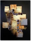 Mid Bronze by lisa vallo art, Painting, Mixed Media on Canvas