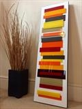 Mid-Century Fall (vertical/horizontal) by lisa vallo art, Painting, Mixed Media on Canvas