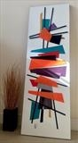 Mid-Century Madness MADE TO ORDER ONLY by lisa vallo art, Painting, Mixed Media on Canvas