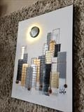 Moon over Manhattan by lisa vallo art, Painting, Mixed Media on Canvas
