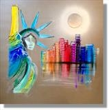 New York Fever WAS £340 by lisa vallo art, Painting, Mixed Media on Canvas