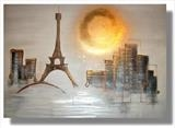 Parisienne Sunset (Commissioned piece) by lisa vallo, Painting, Mixed Media on Canvas