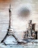 Perfect Paris by lisa vallo art, Painting, Mixed Media on Canvas