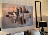 SALE Urban Bliss by lisa vallo art, Painting, Mixed Media on Canvas