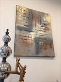 Silver Cross RRP £299 by lisa vallo art, Painting, Mixed Media on Canvas