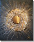 Star Burst by lisa vallo art, Painting, Mixed Media on Canvas