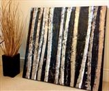 Urban Birch by lisa vallo art, Painting