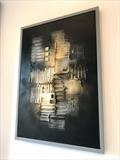 Urban Black by lisa vallo art, Painting, Mixed Media on Canvas