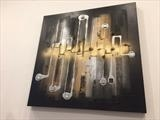 Urban Degree RRP £320 by lisa vallo art, Painting, Mixed Media on Canvas