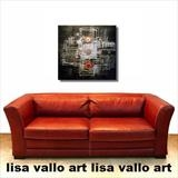Urban Reflection ON SALE by lisa vallo, Painting, Mixed Media on Canvas