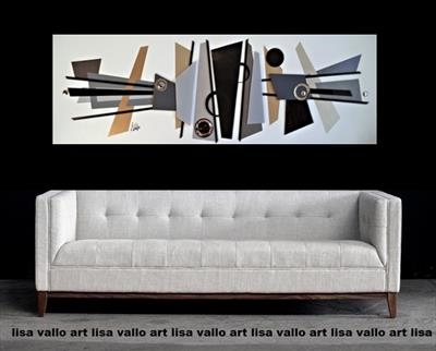 Mid-Century Fusion by lisa vallo art, Painting