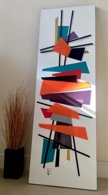 Mid Century Madness by lisa vallo art, Painting, Mixed Media on Canvas