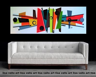 Mid-Century Mania by lisa vallo art, Painting